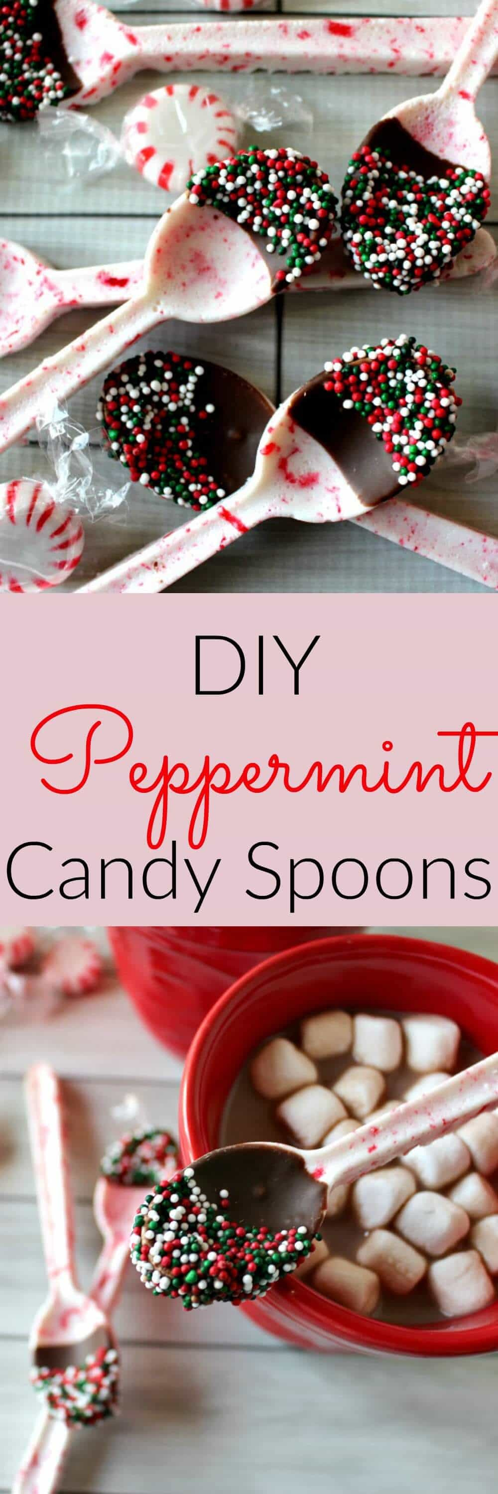 Christmas Candy Gift Ideas  DIY Peppermint Candy Spoons Princess Pinky Girl
