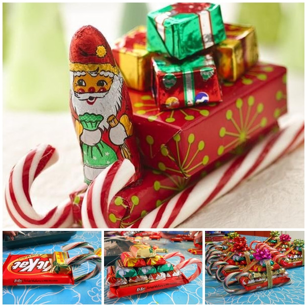 Christmas Candy Gifts  Wonderful DIY Christmas Candy Cane Sleigh