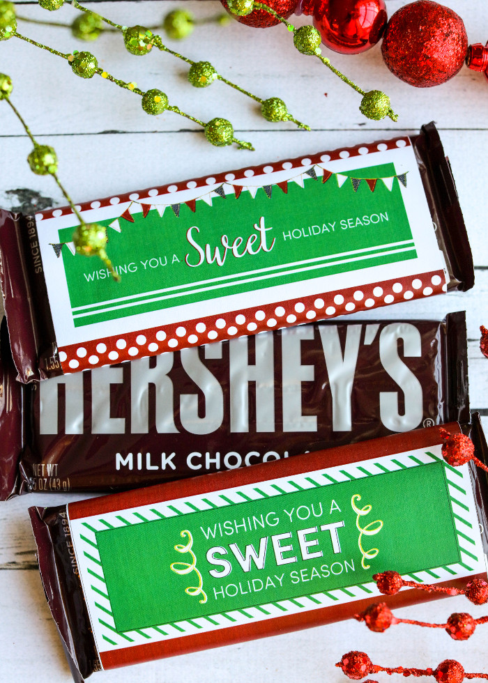 Christmas Candy Gifts  Christmas Candy Bar Wrappers