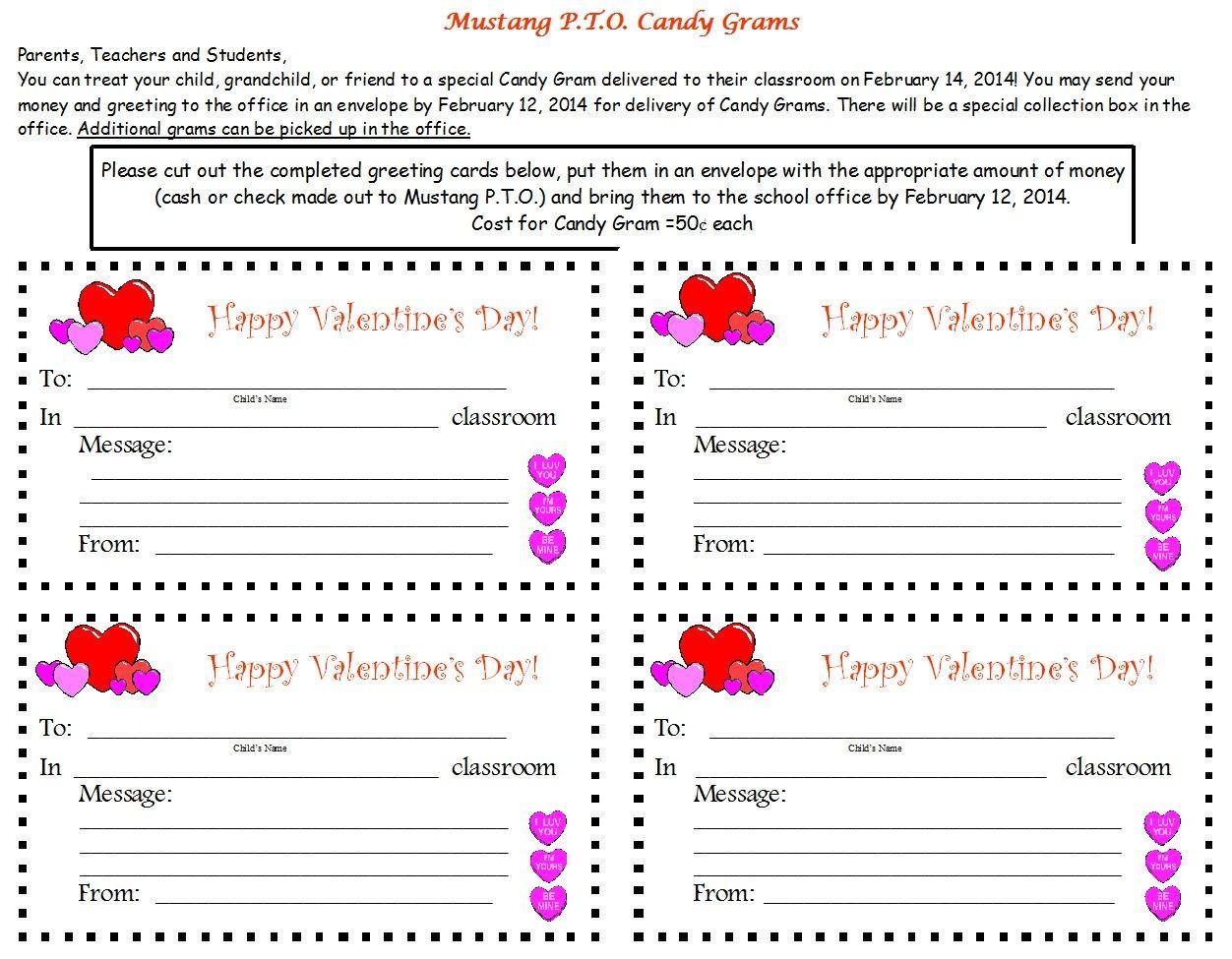 Christmas Candy Gram Template  valentine gram template
