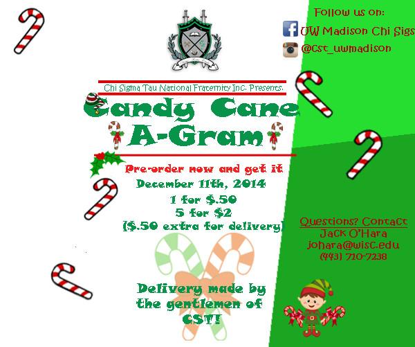 Christmas Candy Gram Template  Candy Cane A Gram Fundraiser
