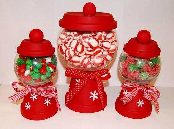 Christmas Candy Holders  DIY Christmas candy holders Christmas