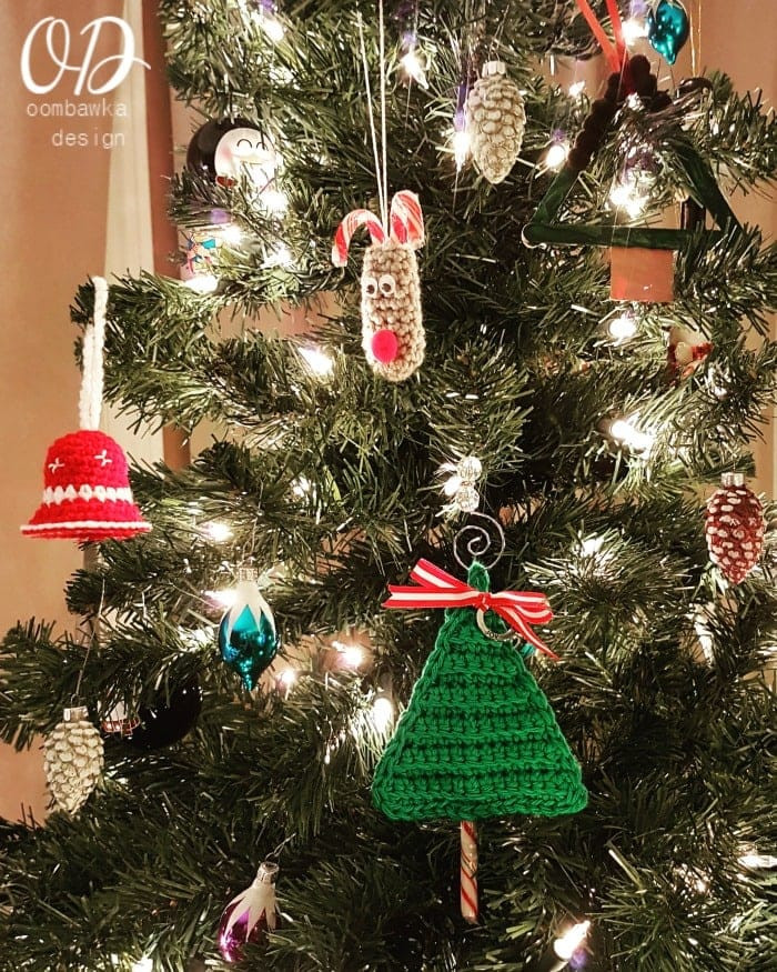 Christmas Candy Holders  Last Minute Christmas Tree Candy Cane Holders • Oombawka