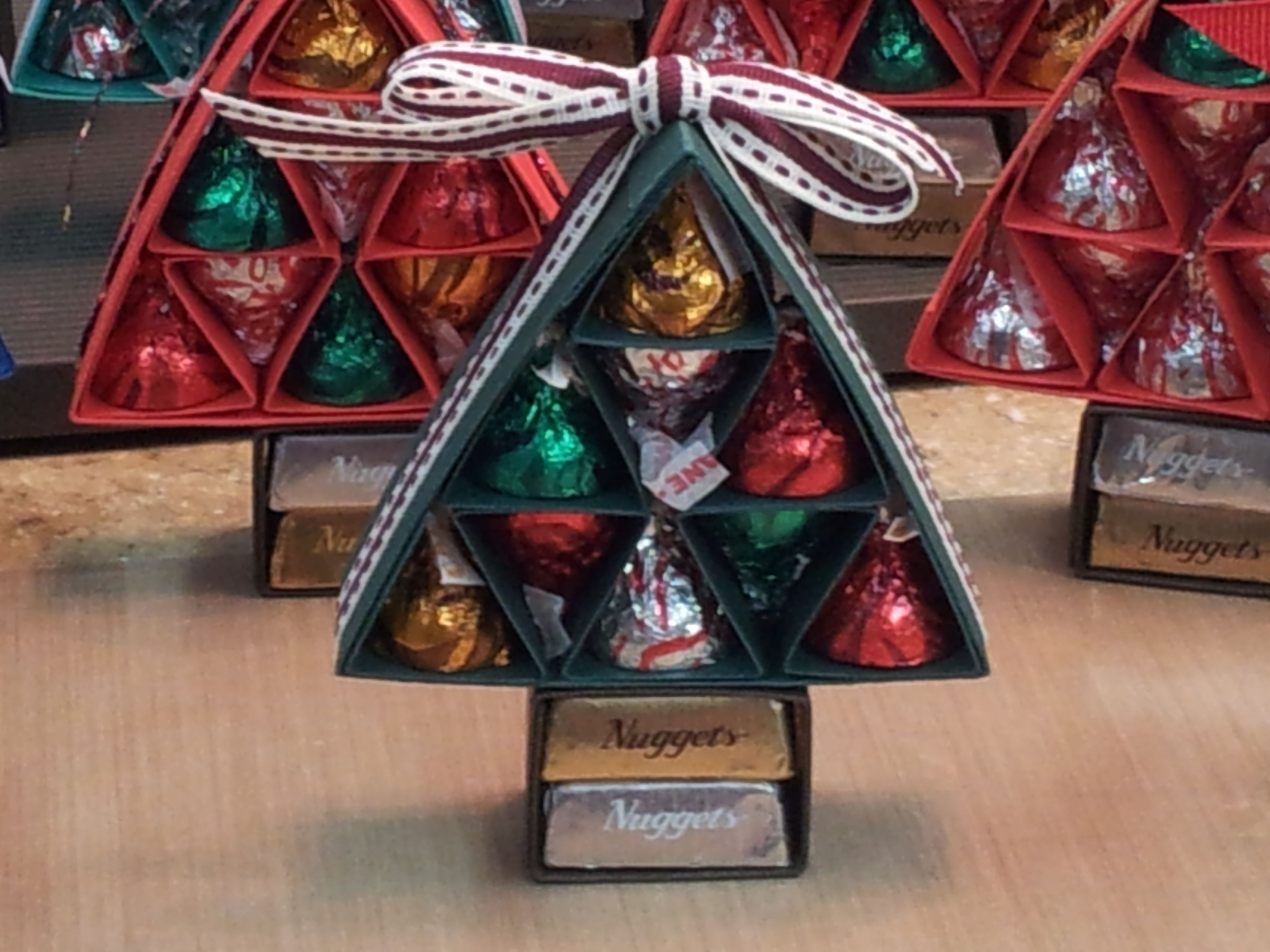 Christmas Candy Holders  Christmas tree candy kiss holder great party favors or