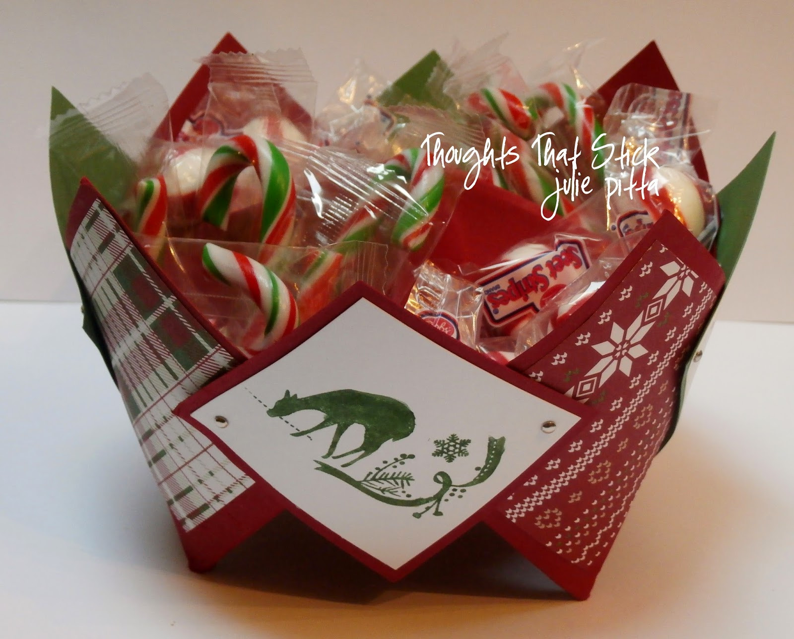 Christmas Candy Holders  Thoughts that Stick Christmas Candy Holder