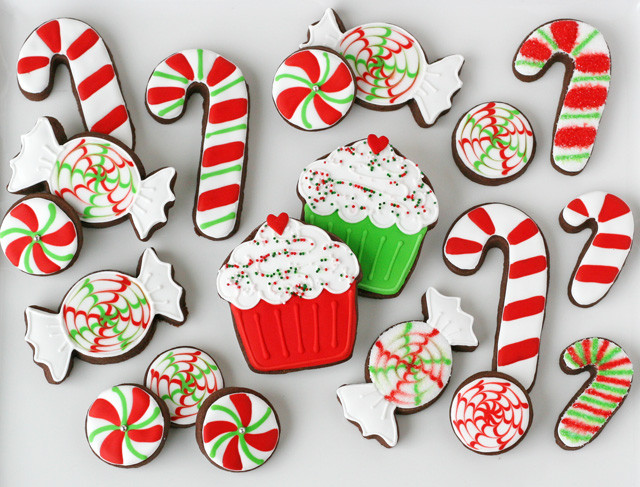 Christmas Candy Images  Peppermint Candy Decorated Cookies – Glorious Treats