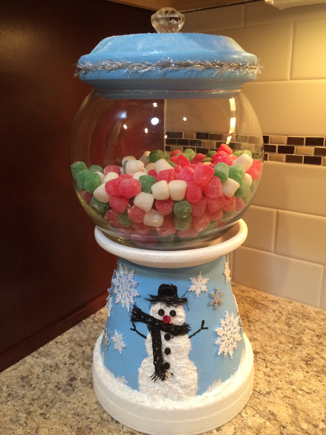 Christmas Candy Jars  snowman Christmas Candy Jar Bank Cookie by