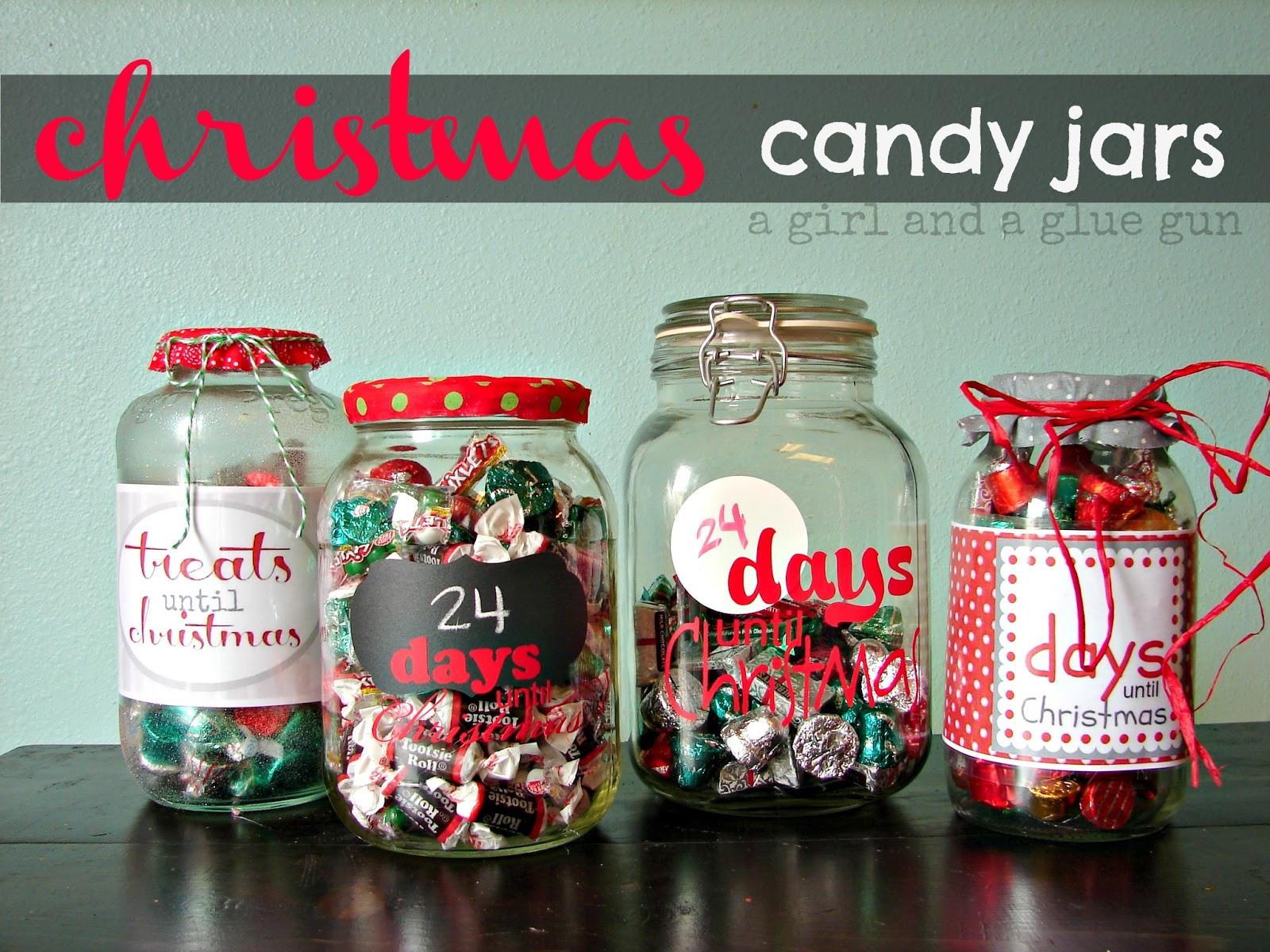 Christmas Candy Jars  Christmas Wonderful Christmas Countdown Candy Jars