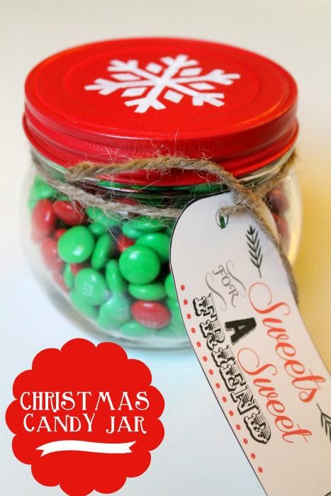 Christmas Candy Jars  Easy Christmas Gift Ideas