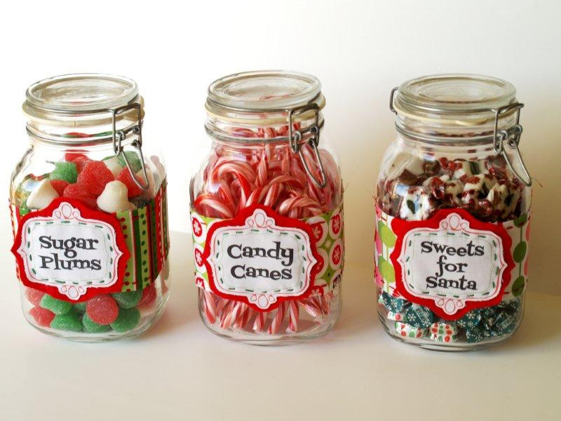 Christmas Candy Jars  Christmas Candy Jar Labels
