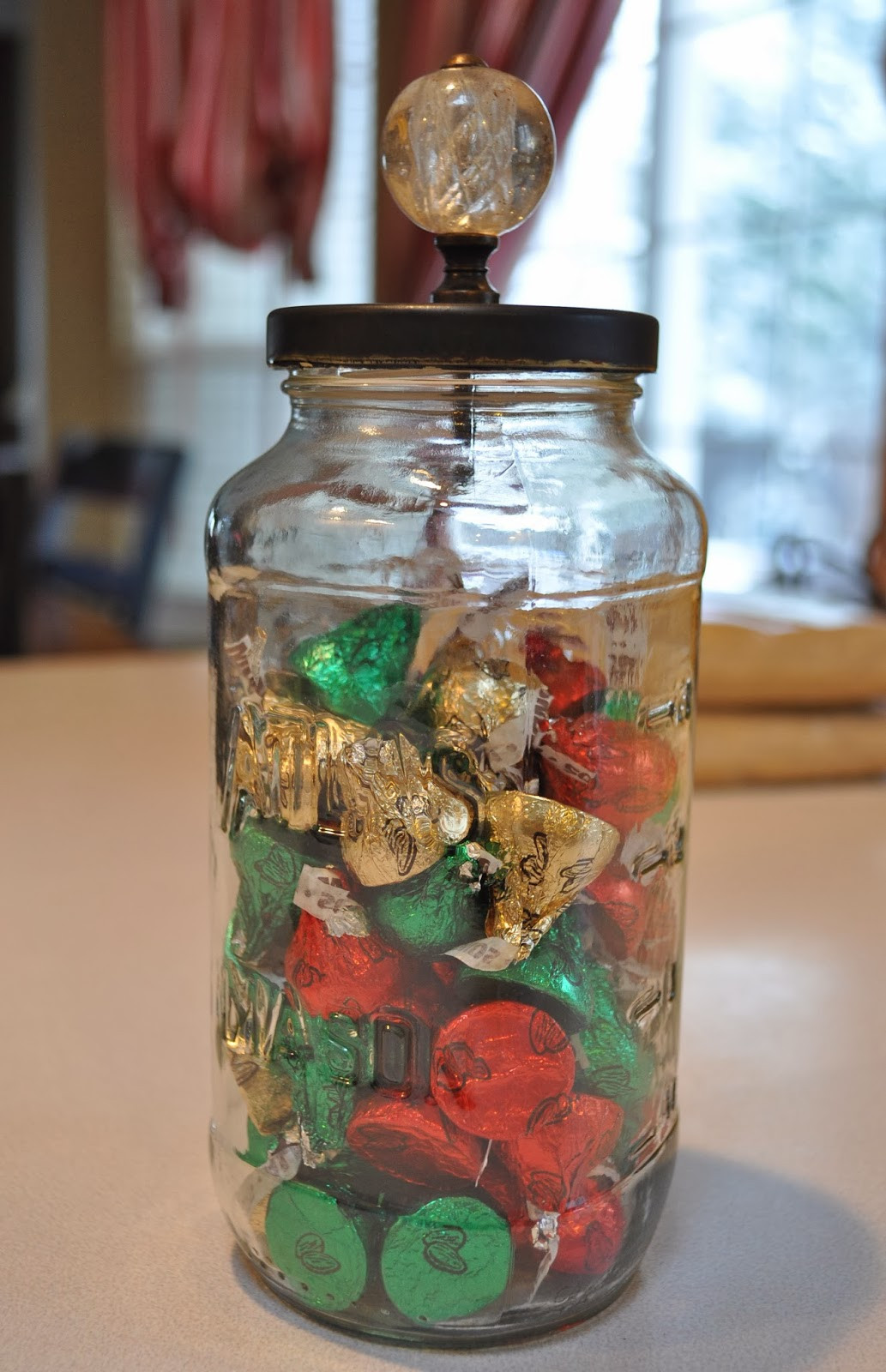 Christmas Candy Jars  Lisa s Scribbles Blog Archive DIY Christmas Candy Jars