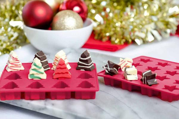 Christmas Candy Molds  Silicone Christmas Holiday Candy Molds by StarPack