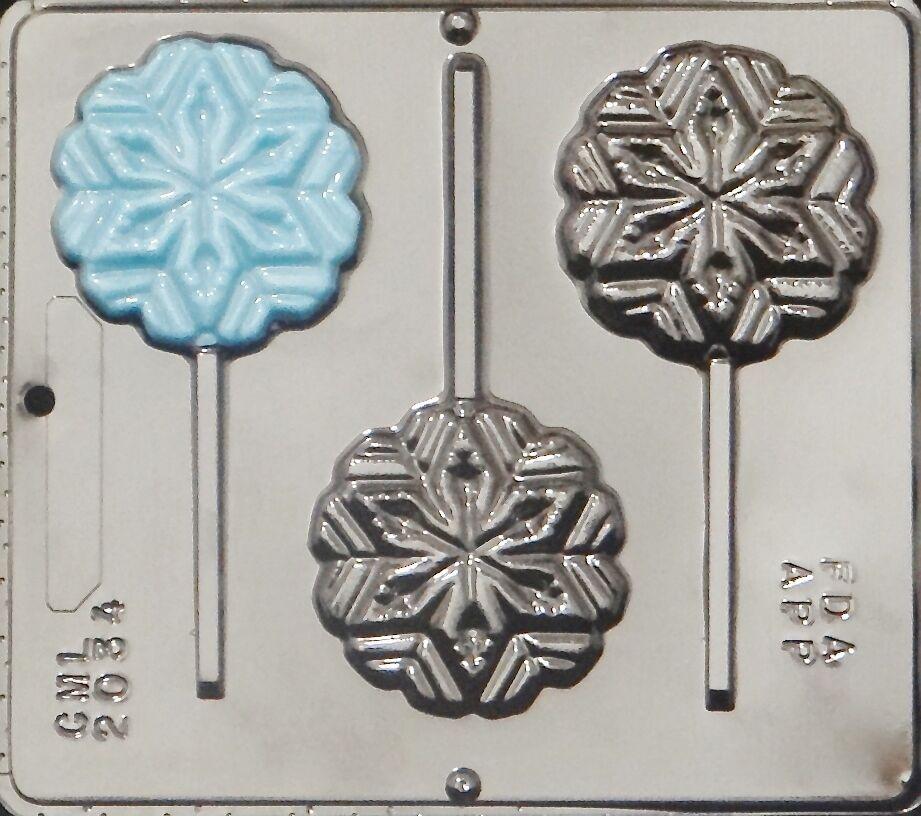 Christmas Candy Molds  Snowflake Lollipop Chocolate Candy Mold Christmas 2034 NEW
