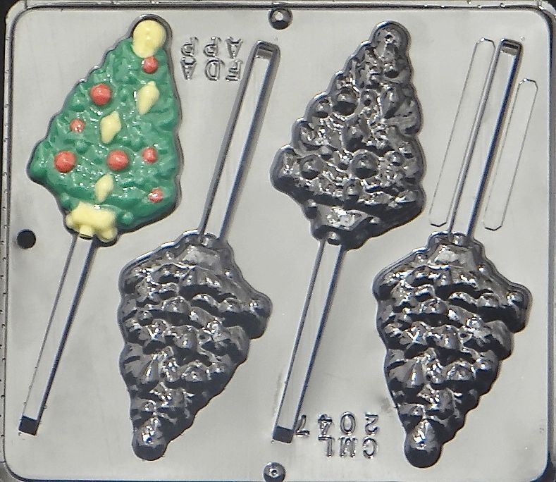 Christmas Candy Molds  Christmas Tree with Ornaments Lollipop Chocolate Candy