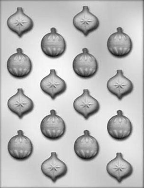 Christmas Candy Molds  Small Christmas Holiday Ornaments Chocolate Candy Mold CK