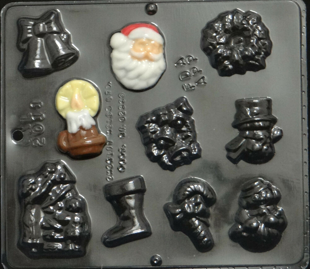 Christmas Candy Molds  Christmas Assortment Chocolate Candy Mold Christmas 2011