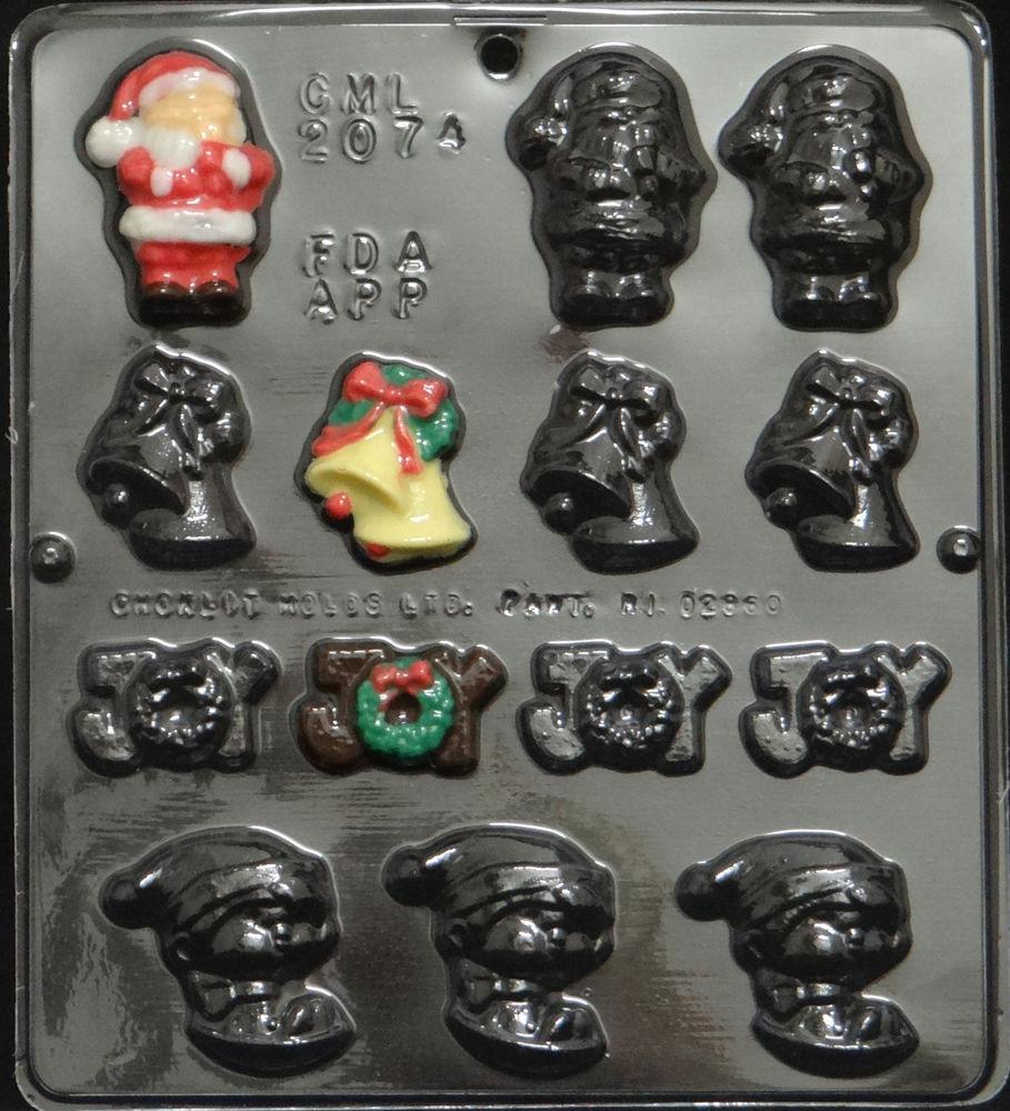 Christmas Candy Molds  Christmas Assortment Chocolate Candy Mold Christmas 2074