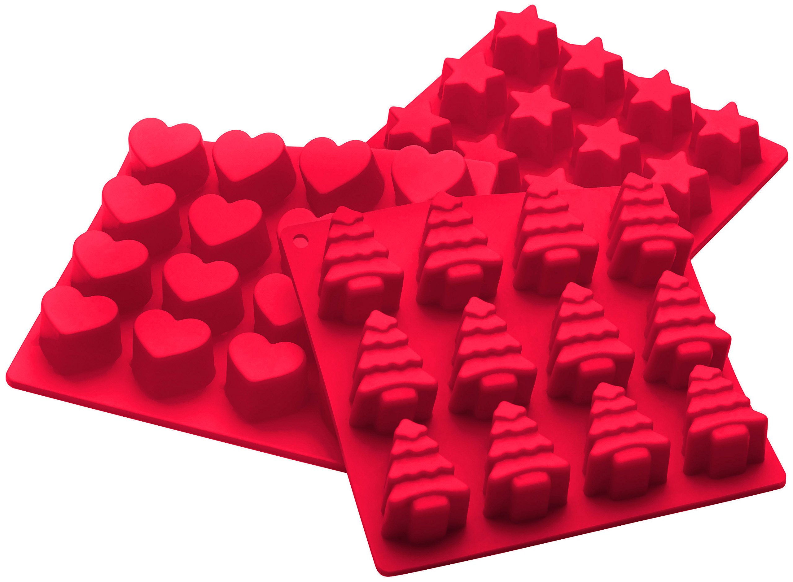 Christmas Candy Molds  StarPack Premium Silicone Holiday Candy Molds 3 Pack