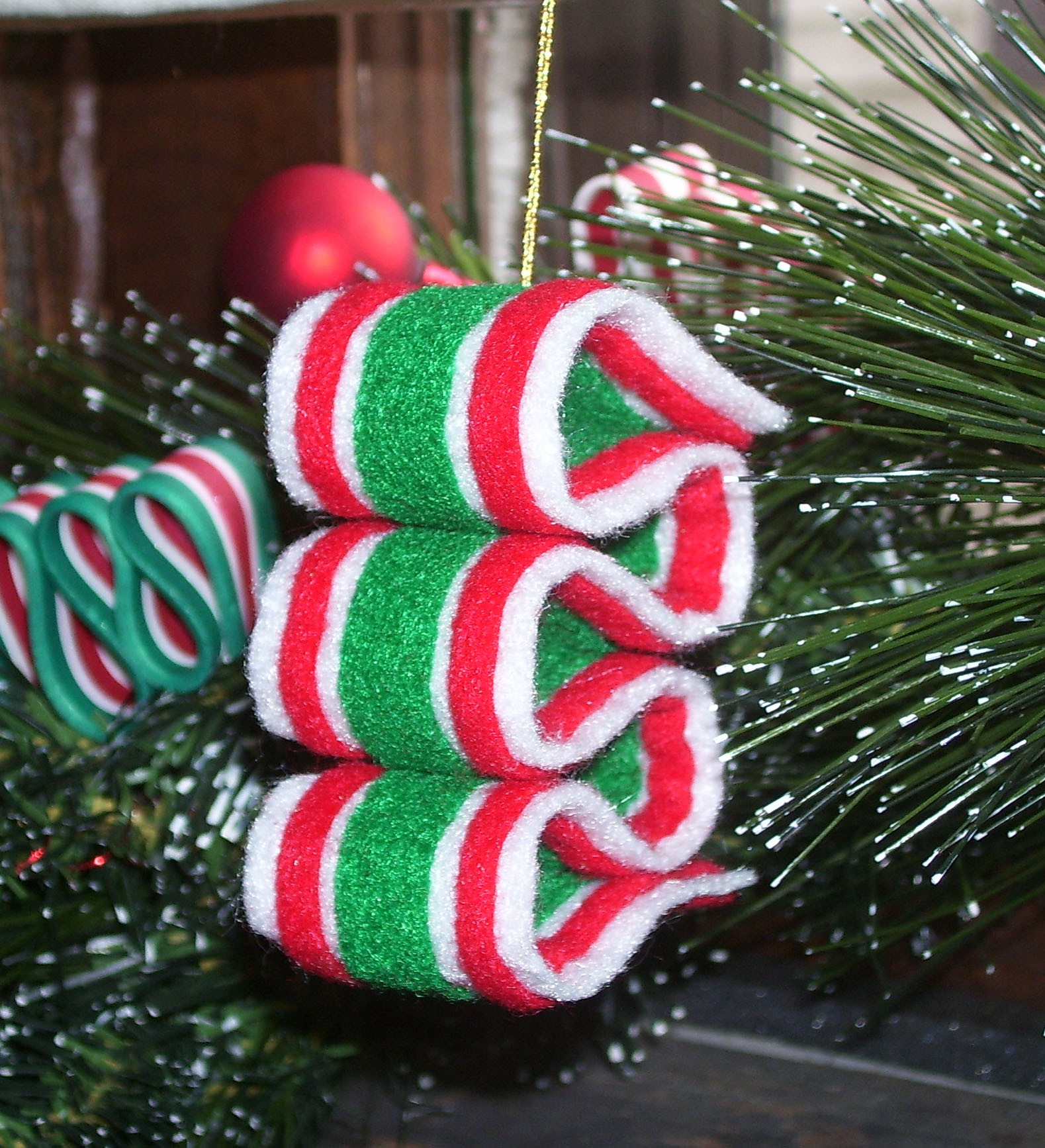 Christmas Candy Ornaments  Felt Christmas Candy Ornaments