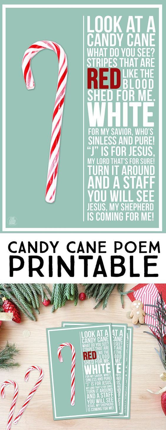 Christmas Candy Poems  This Candy Cane Poem is a lovely reminder of the true