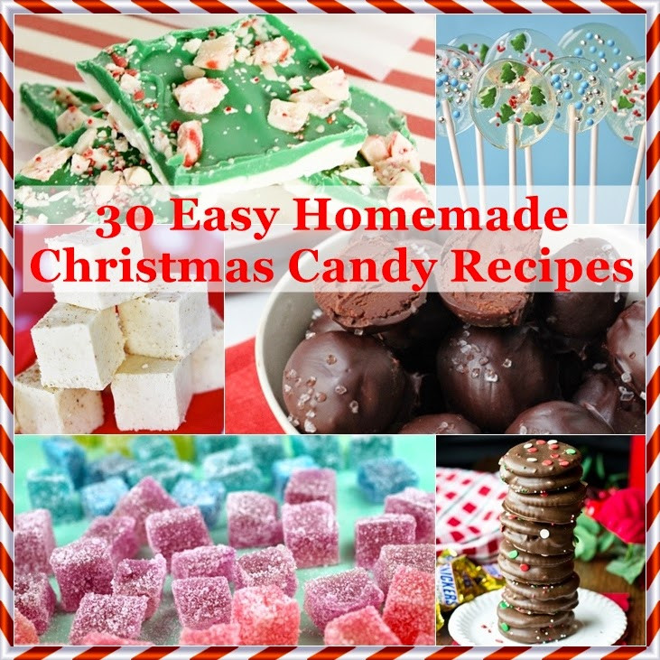 Christmas Candy Recipes With Pictures  The Domestic Curator 30 Easy Homemade Christmas Candy Recipes