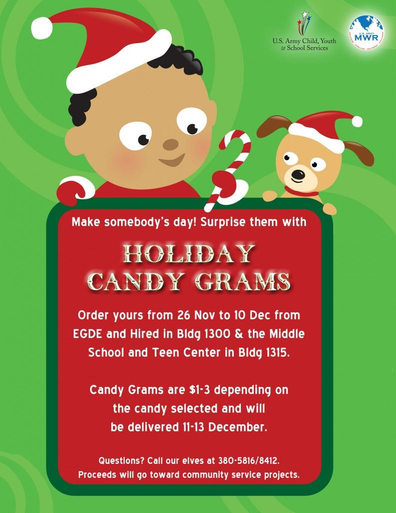 Christmas Candy Sales  Holiday Candy Grams For Sale through CYSS PTO