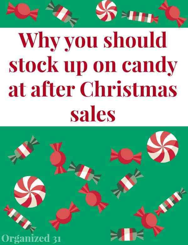 Christmas Candy Sales  Stock Up on Candy at After Christmas Sales Organized 31