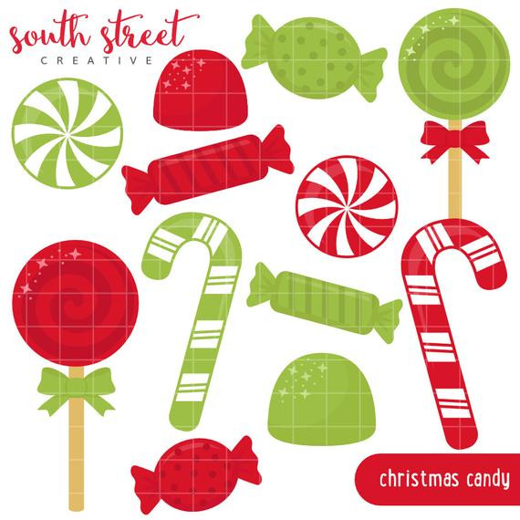 Christmas Candy Sales  SALE Christmas Candy Canes Peppermint Cute by