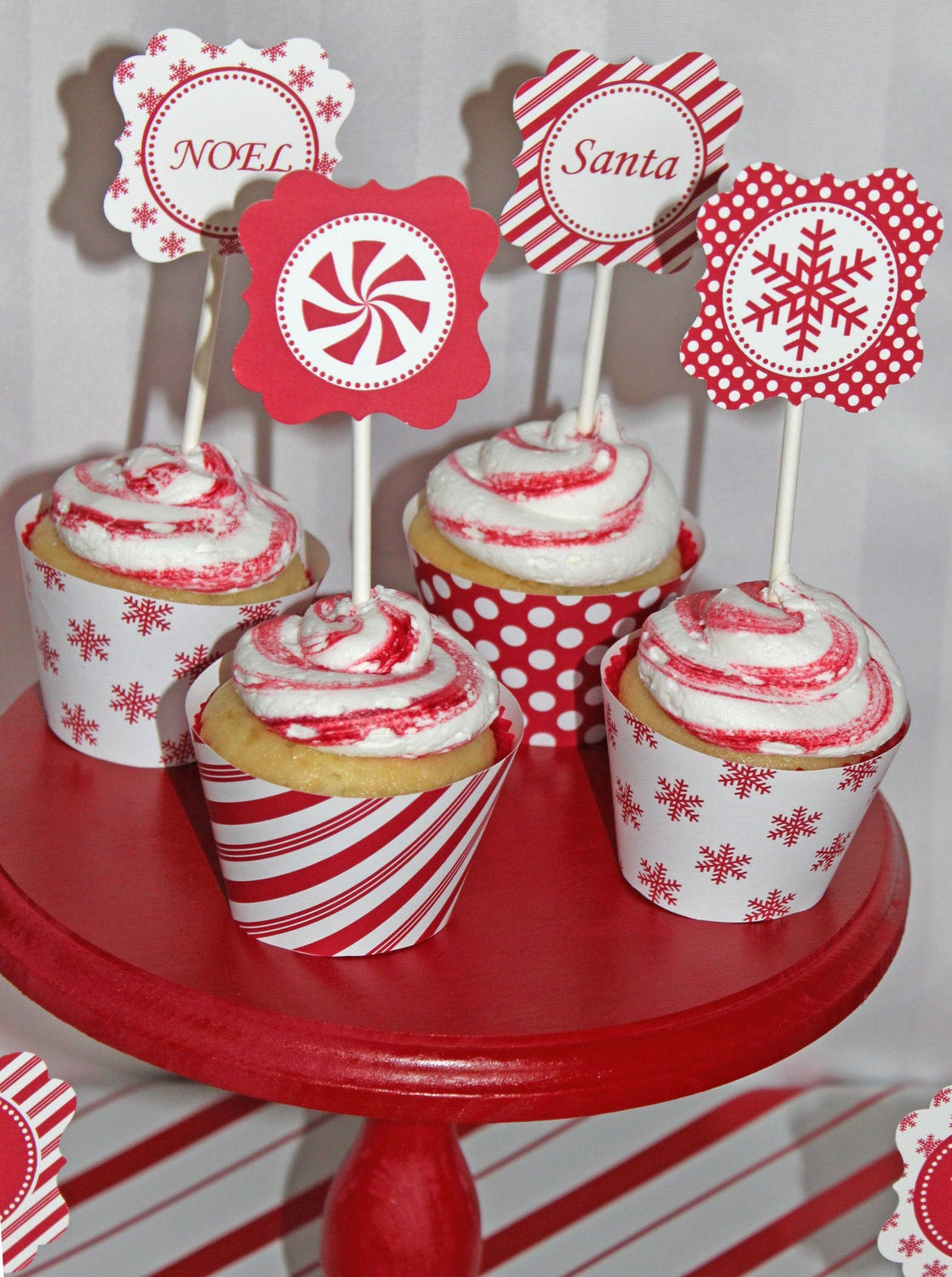 Christmas Candy Sales  SALE DIY Christmas Holiday candy cane by CupcakeExpress on