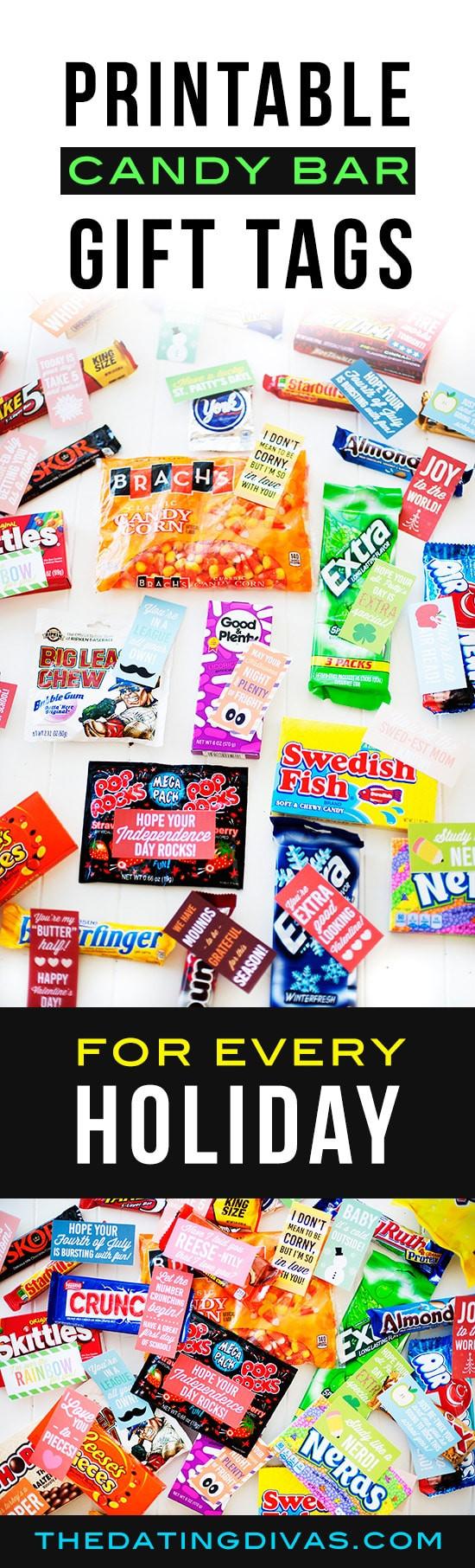 Christmas Candy Sayings  Holiday Candy Bar Gift Tags