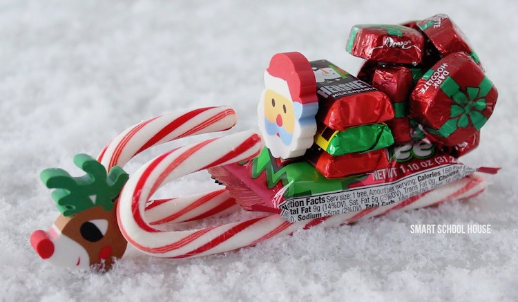Christmas Candy Sleds  How to Make a Candy Sleigh Smart School House