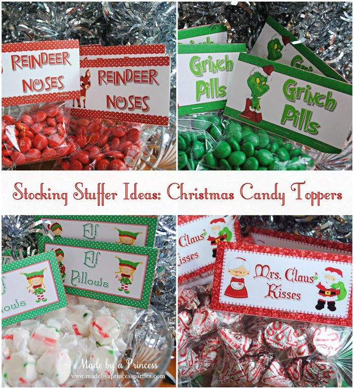 Christmas Candy Stocking Stuffers  stocking stuffer idea christmas candy toppers