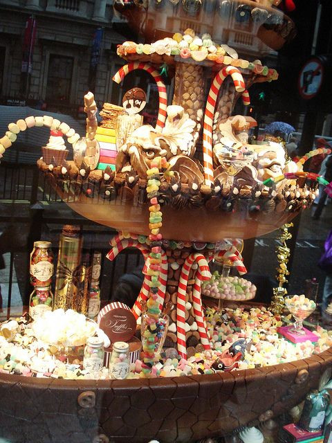 Christmas Candy Store  Fancy shop window candy display