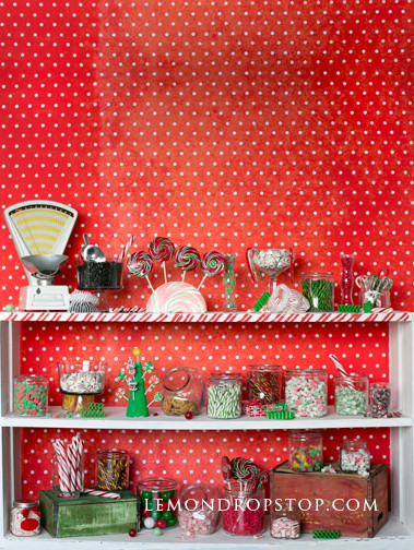 Christmas Candy Store  LemonDrop Shop Backdrops