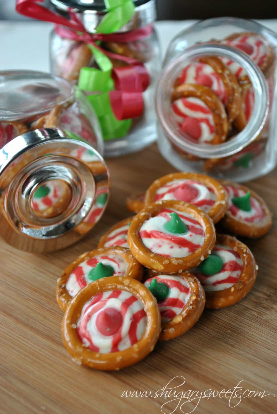 Christmas Candy Treats  Pretzel Candy Shugary Sweets