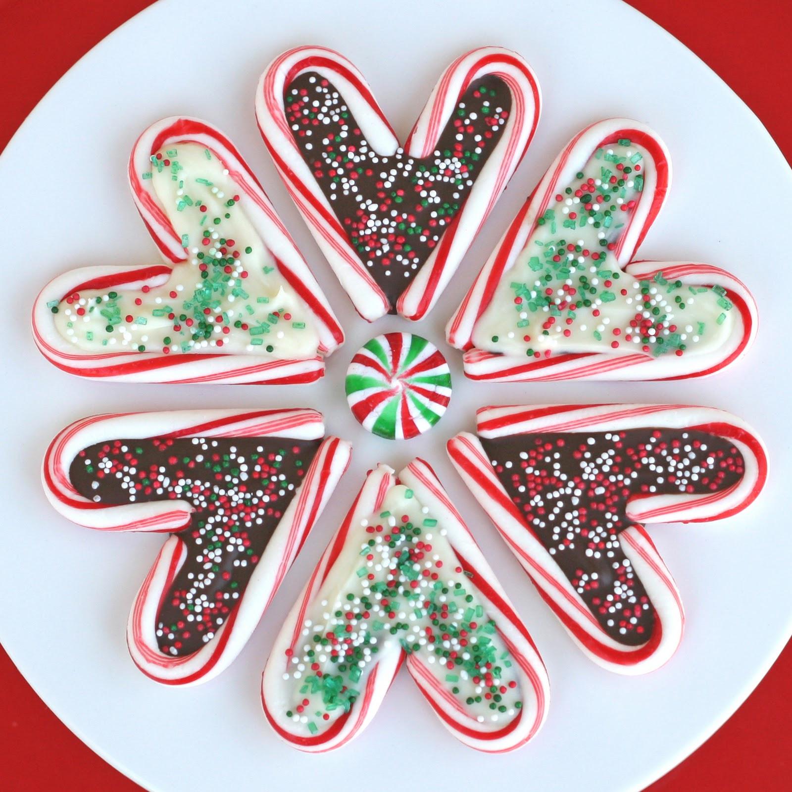 Christmas Candy Treats  Candy Cane Hearts – Glorious Treats