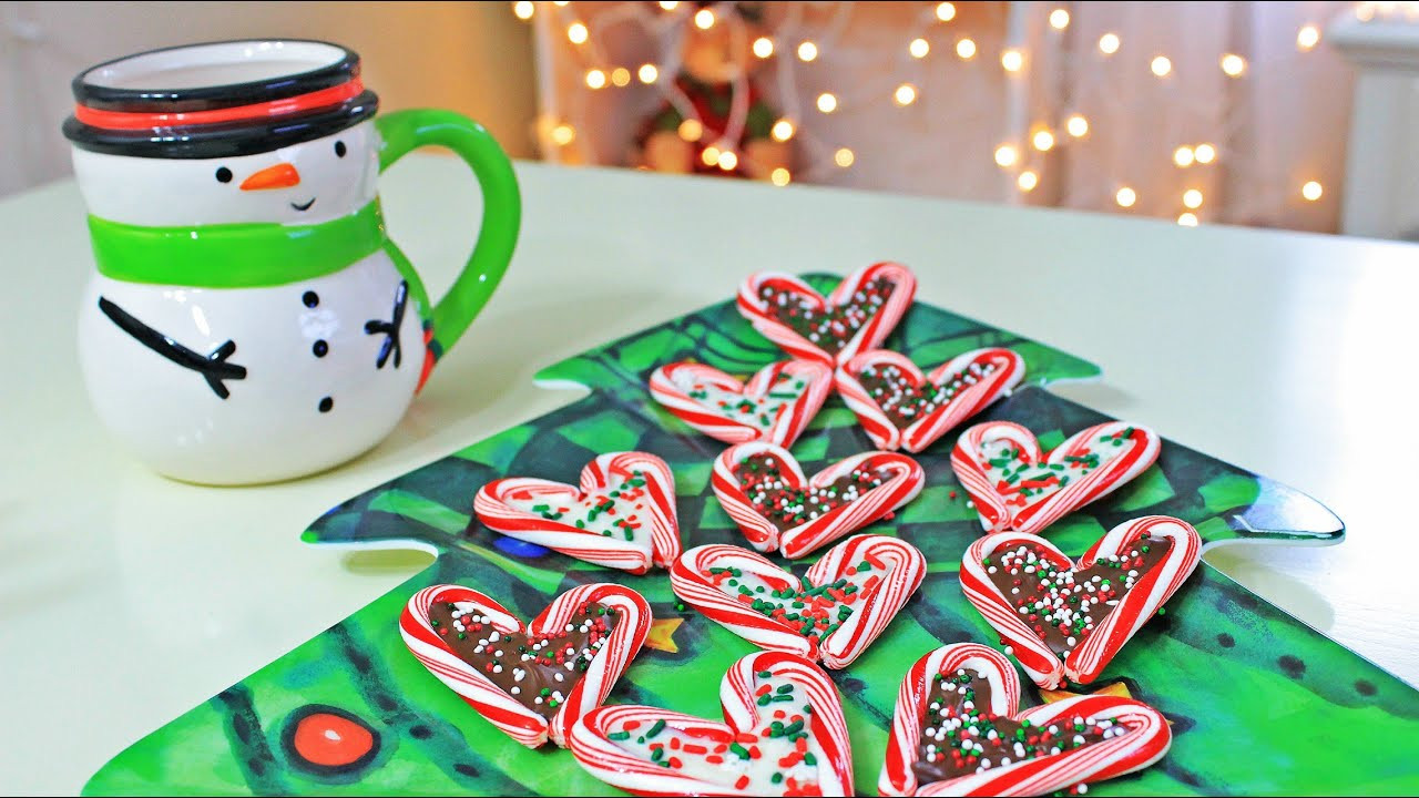 Christmas Candy Treats  DIY Christmas Treats Candy Cane Hearts