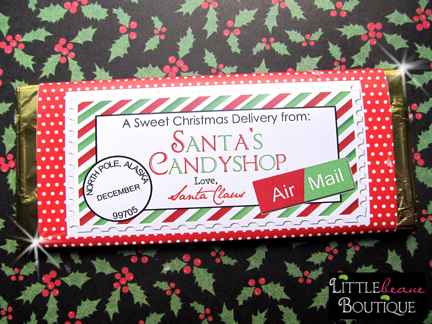 Christmas Candy Wrappers  Printable Christmas Candy Bar Wrappers DIY Holiday