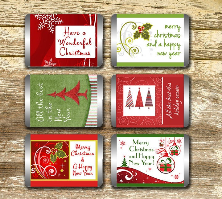 Christmas Candy Wrappers  Mini Candy Bar Wrappers Christmas Candy Wrappers Christmas