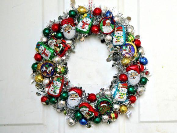 Christmas Candy Wreath  Make a Christmas Candy Wreath Dollar Store Crafts