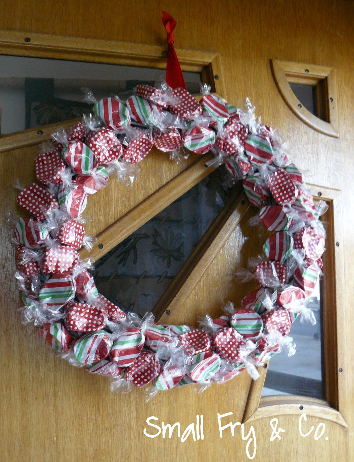 Christmas Candy Wreath  Small Fry & Co Christmas Candy Wreath