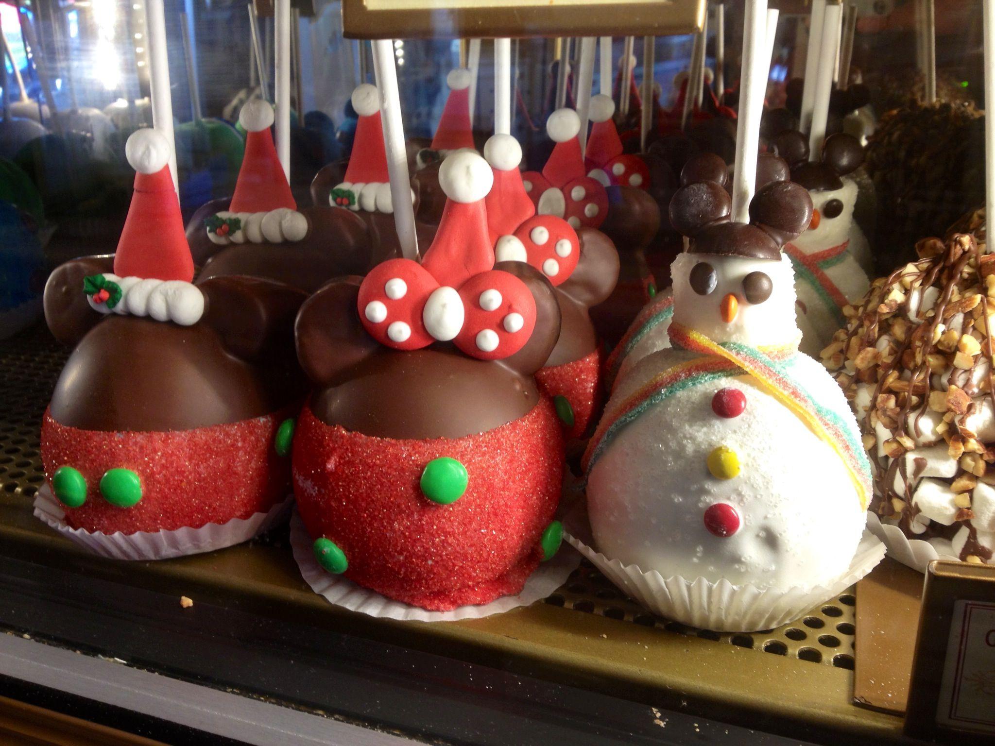 Christmas Caramel Apples  Holiday Caramel Apples at Disneyland