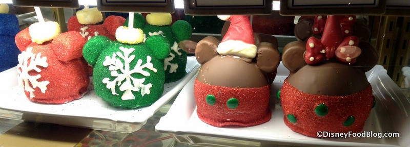 Christmas Caramel Apples  News Christmas in July Treats at Disney Springs Disney