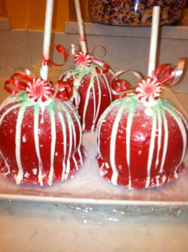 Christmas Caramel Apples  Christmas caramel apples Christmas Treats