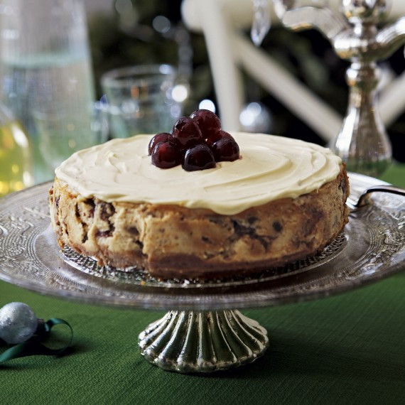 Christmas Cheesecake Recipe  Christmas Cheesecake with Soaked Fruits Woman And Home