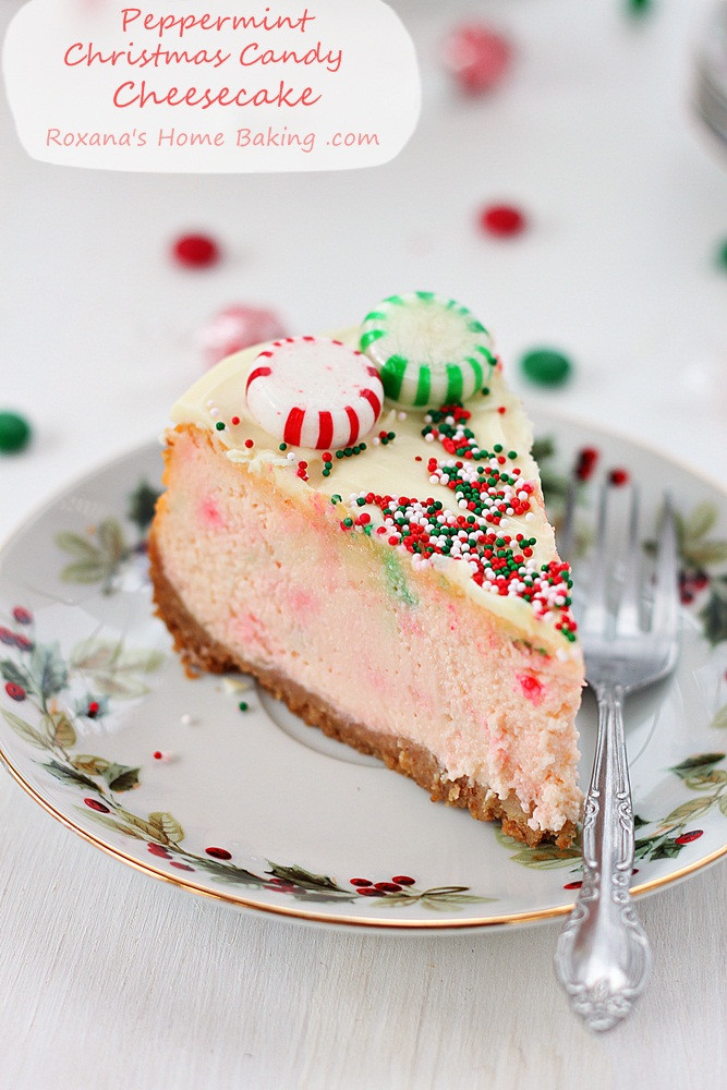 Christmas Cheesecake Recipe  Candy cane chocolate cheesecake bars recipe