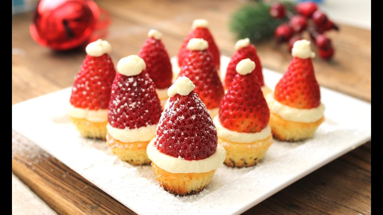 Christmas Cheesecake Recipe  Easy Christmas recipe How to make mini Santa cheesecakes