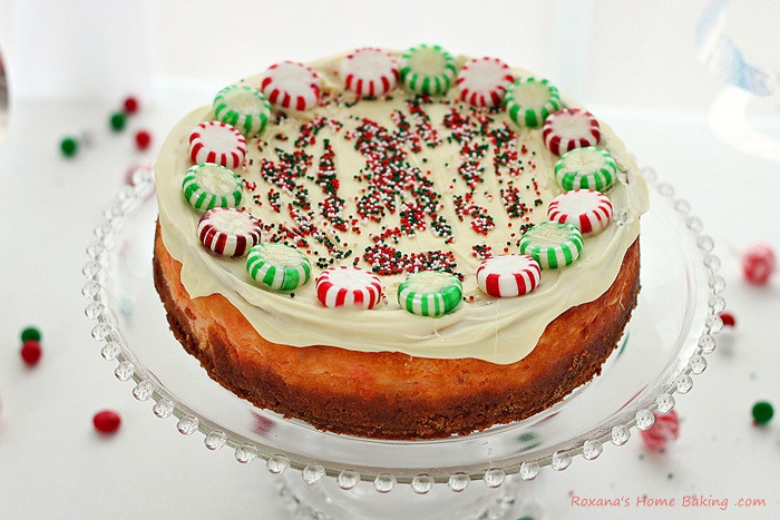 Christmas Cheesecake Recipe  Christmas peppermint candy ricotta cheesecake