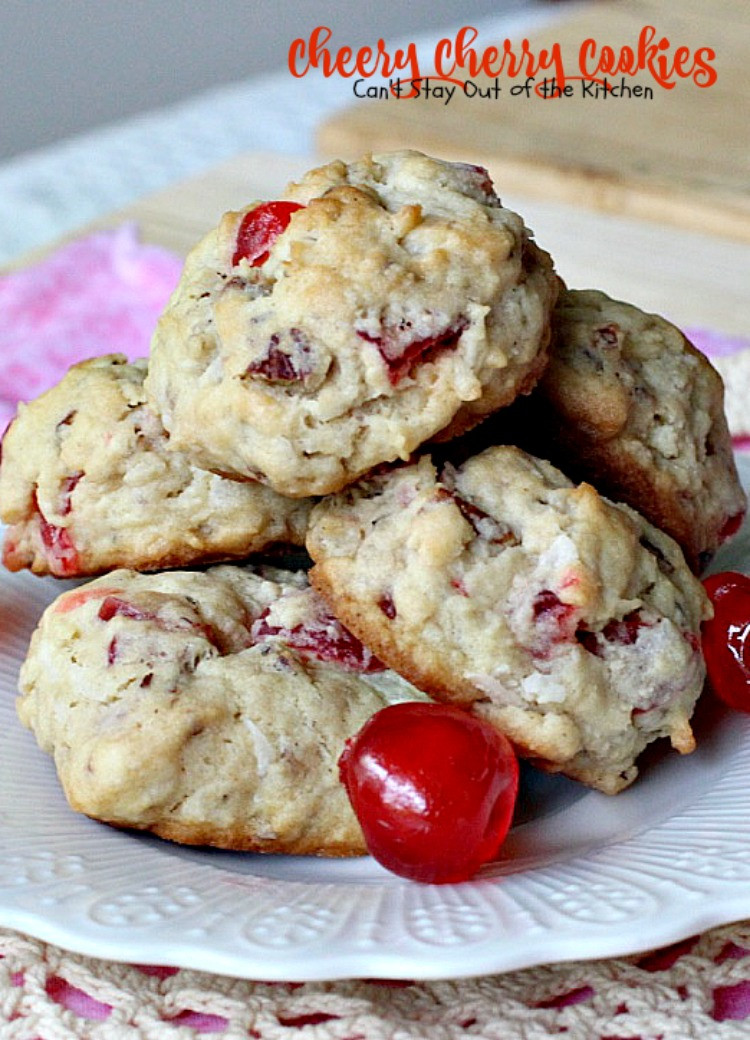 Christmas Cherry Cookies  Cheery Cherry Cookies Can t Stay Out of the Kitchen