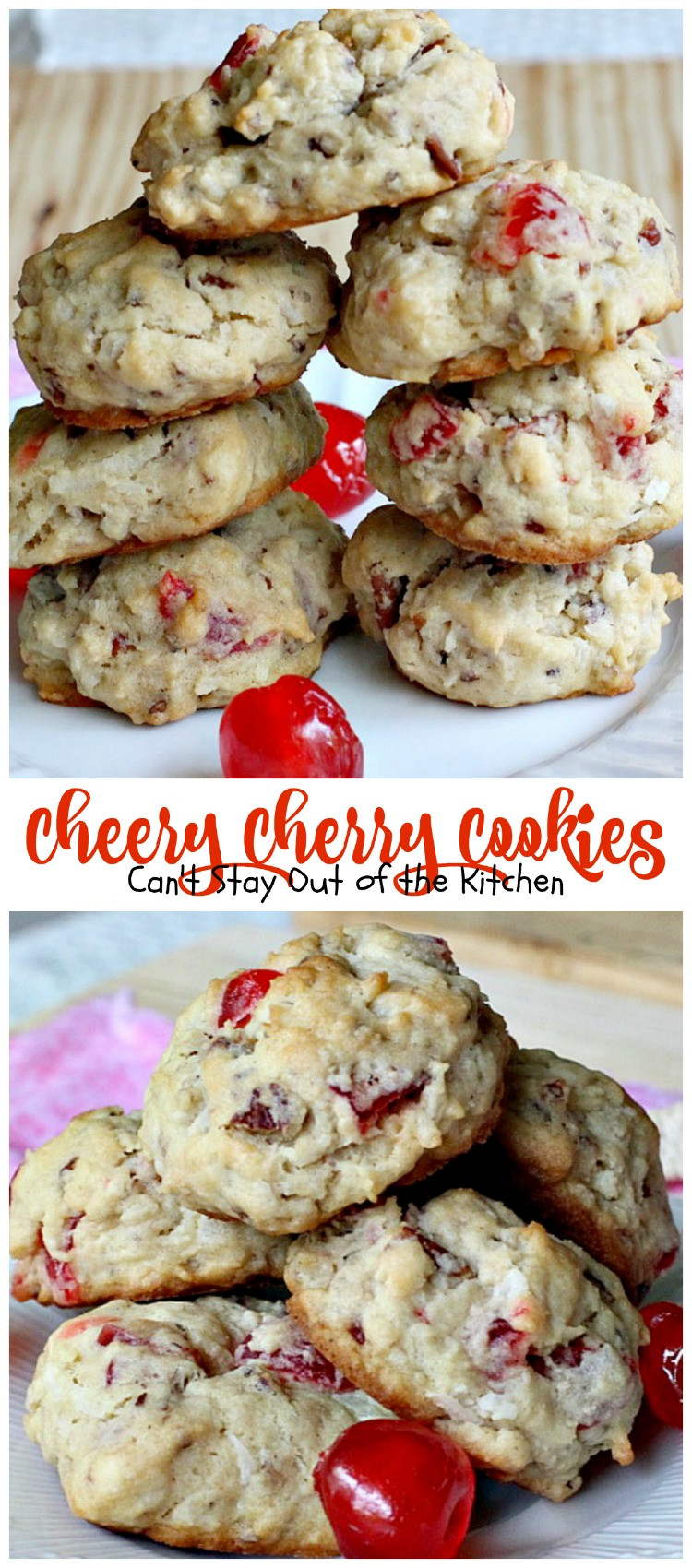 Christmas Cherry Cookies  Cherry Almond Bars Can t Stay Out of the Kitchen